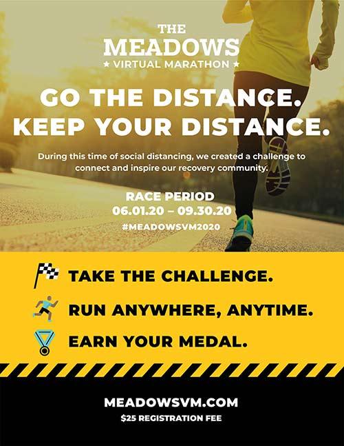 Meadows Virtual Marathon poster