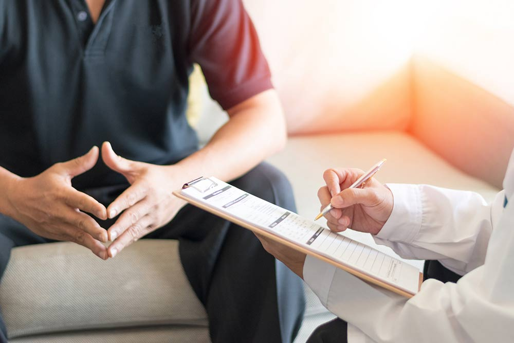 Counseling with patient