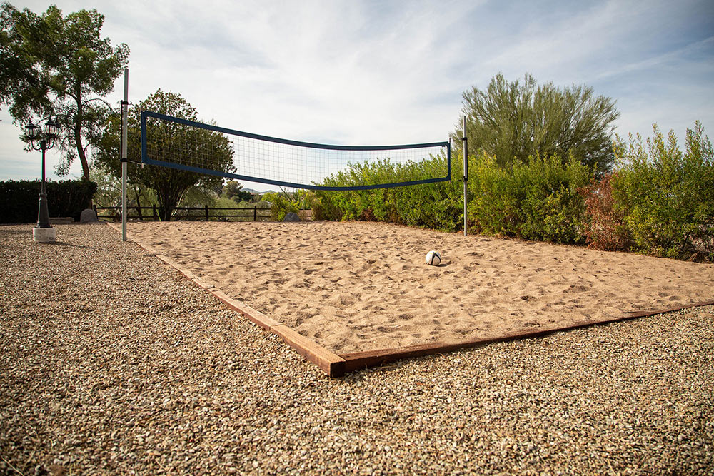 Gentle Path at The Meadows Volleyball court