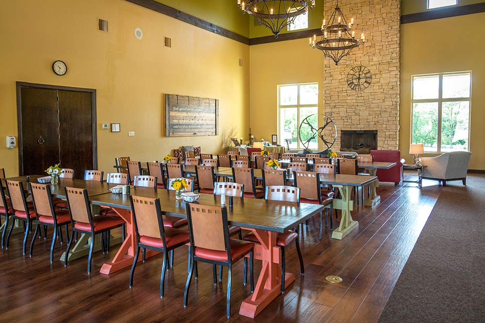 The Meadows Texas dining area