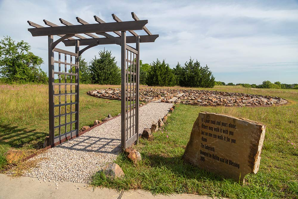 The Meadows Texas labyrinth